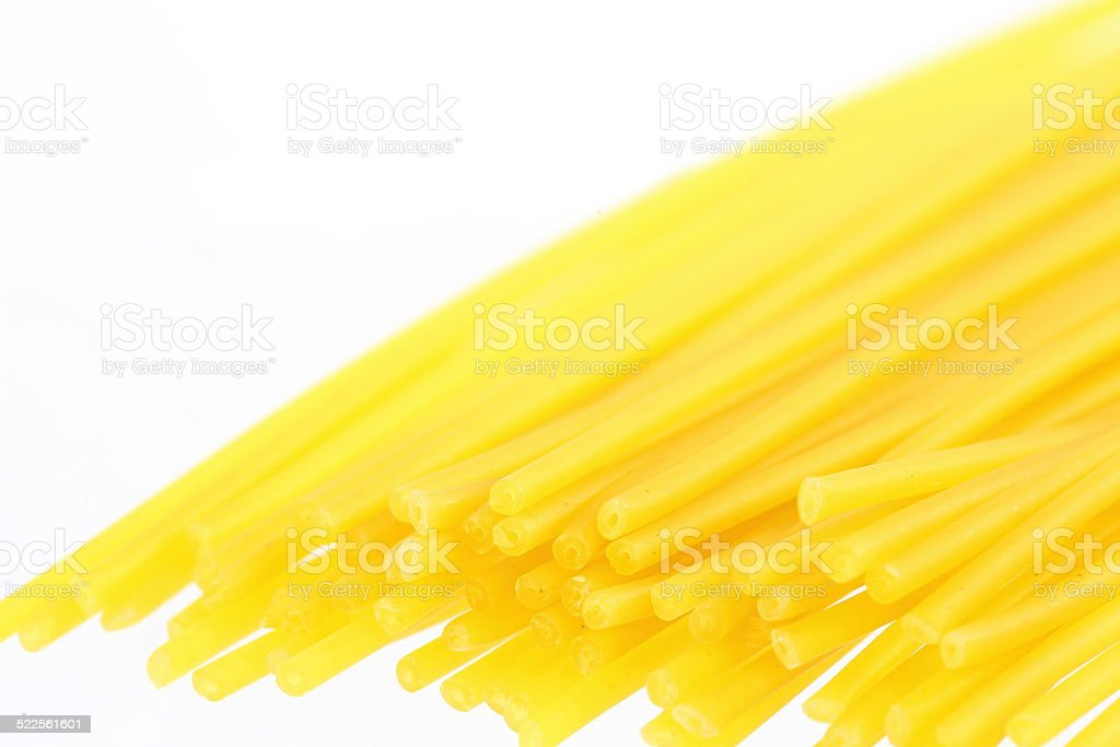 Raw Spaguetti Bucatini stock photo