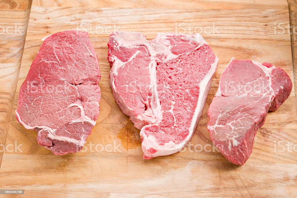 Raw Steaks royalty-free stock photo