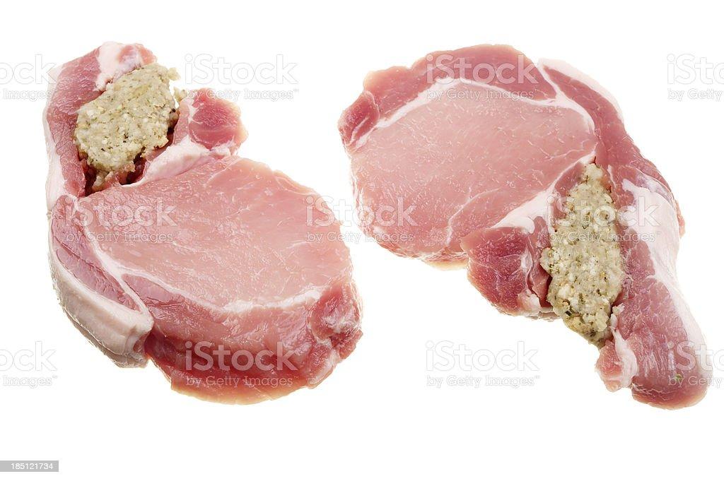 Raw Stuffed Loin Of Pork royalty-free stock photo
