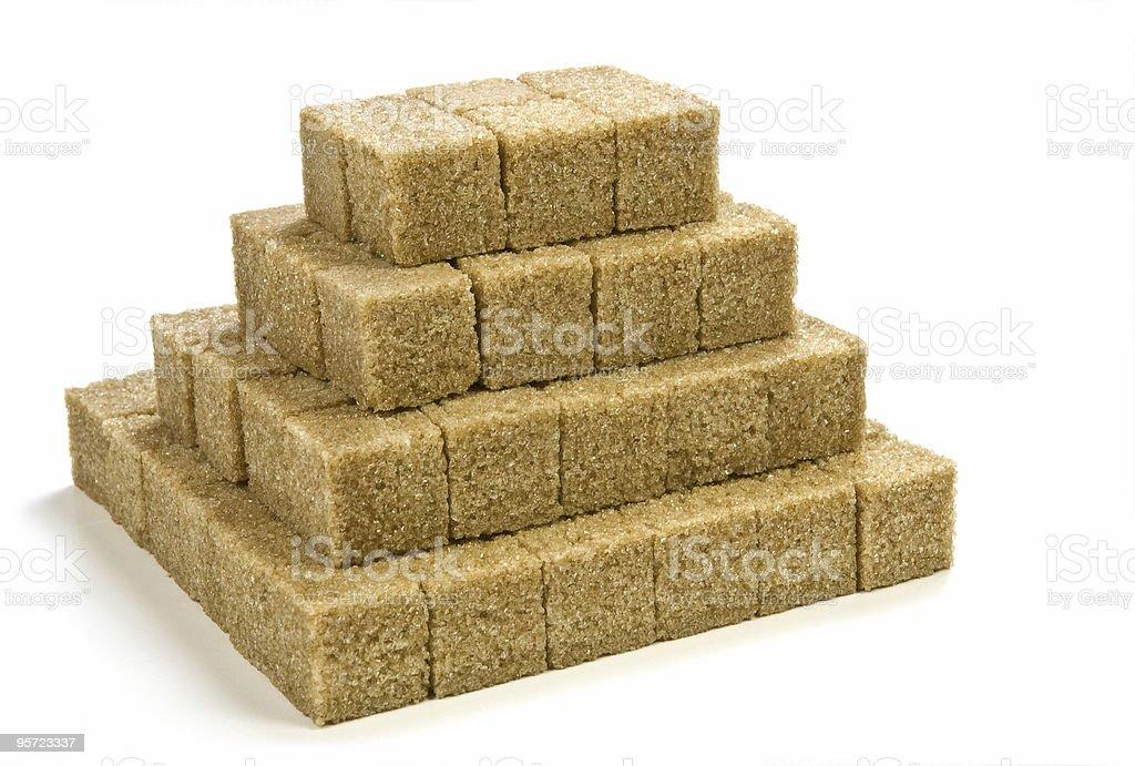 Raw sugar cubes royalty-free stock photo