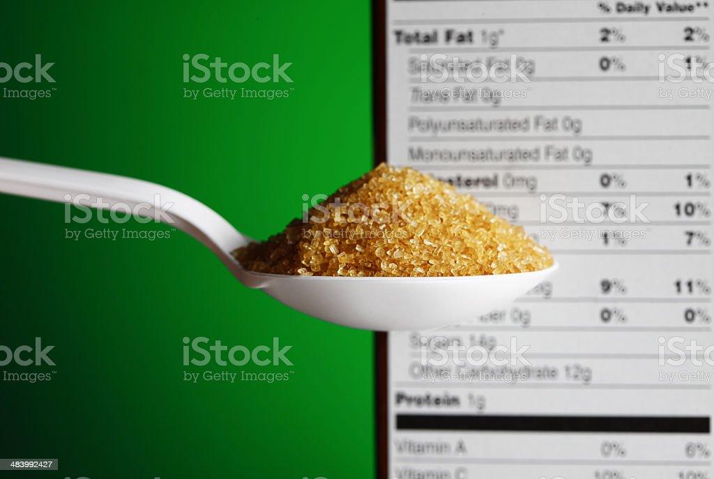 Raw Sugar royalty-free stock photo