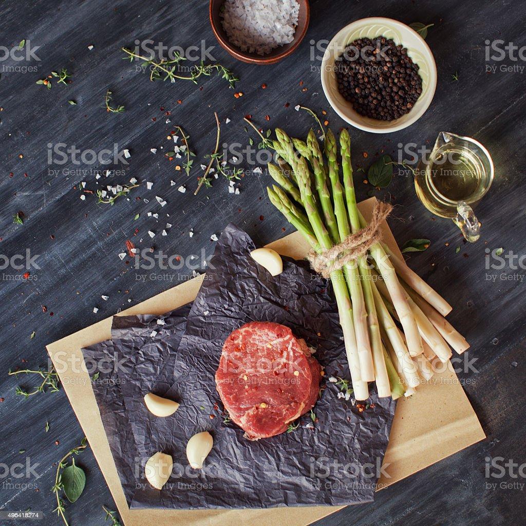Raw tenderloin steak stock photo