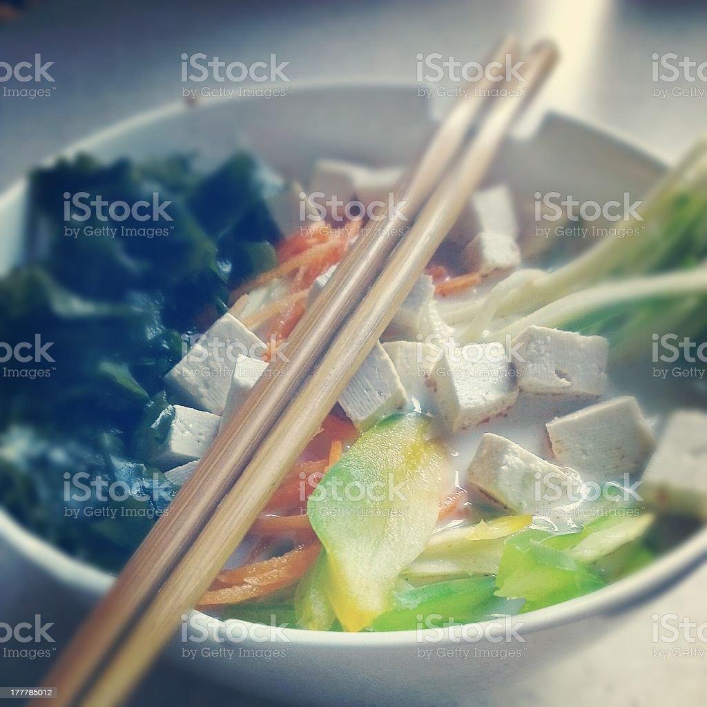 Raw Thai soup royalty-free stock photo
