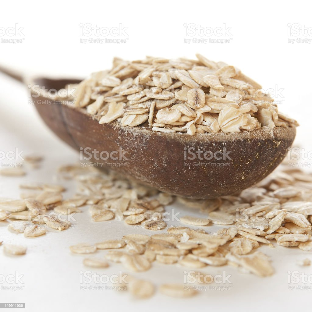 Raw thick rolled oats royalty-free stock photo