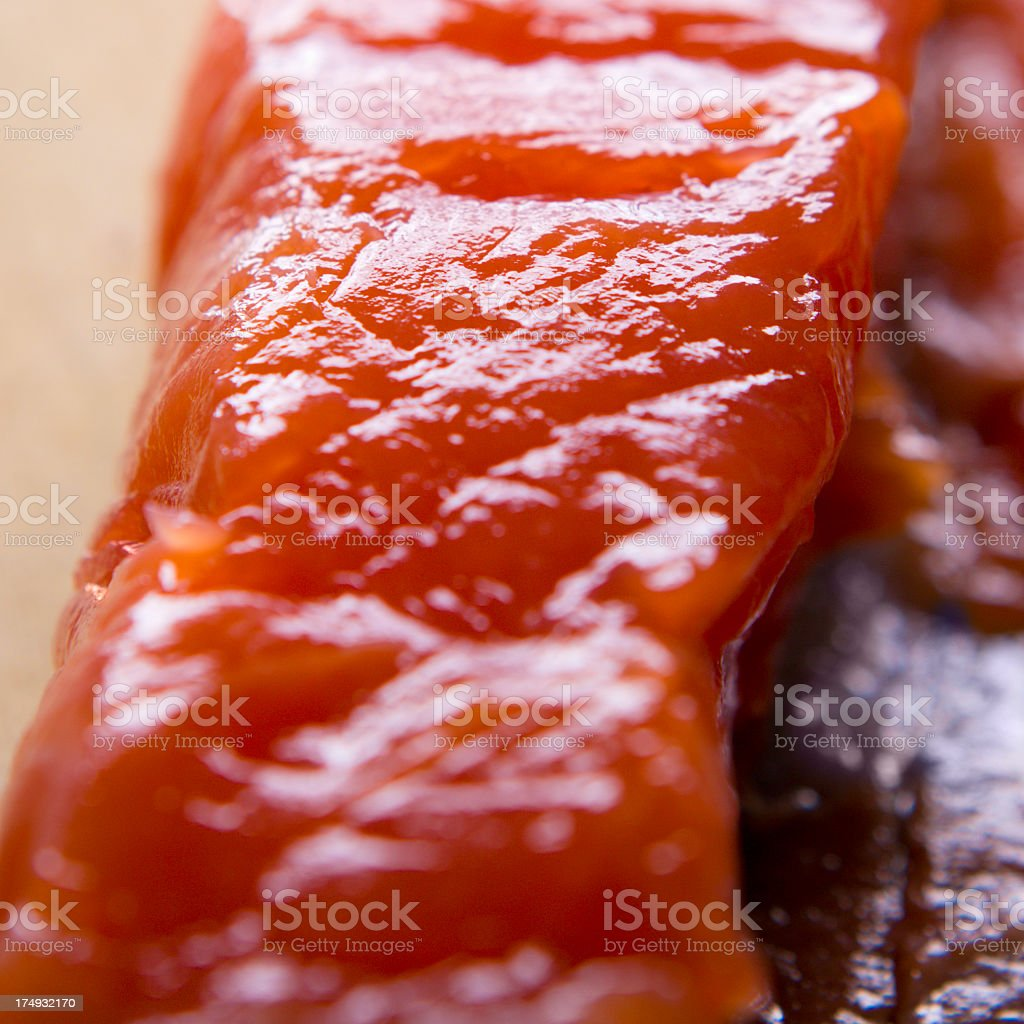 raw trout stock photo