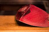 Raw Tuna at Seafood Market