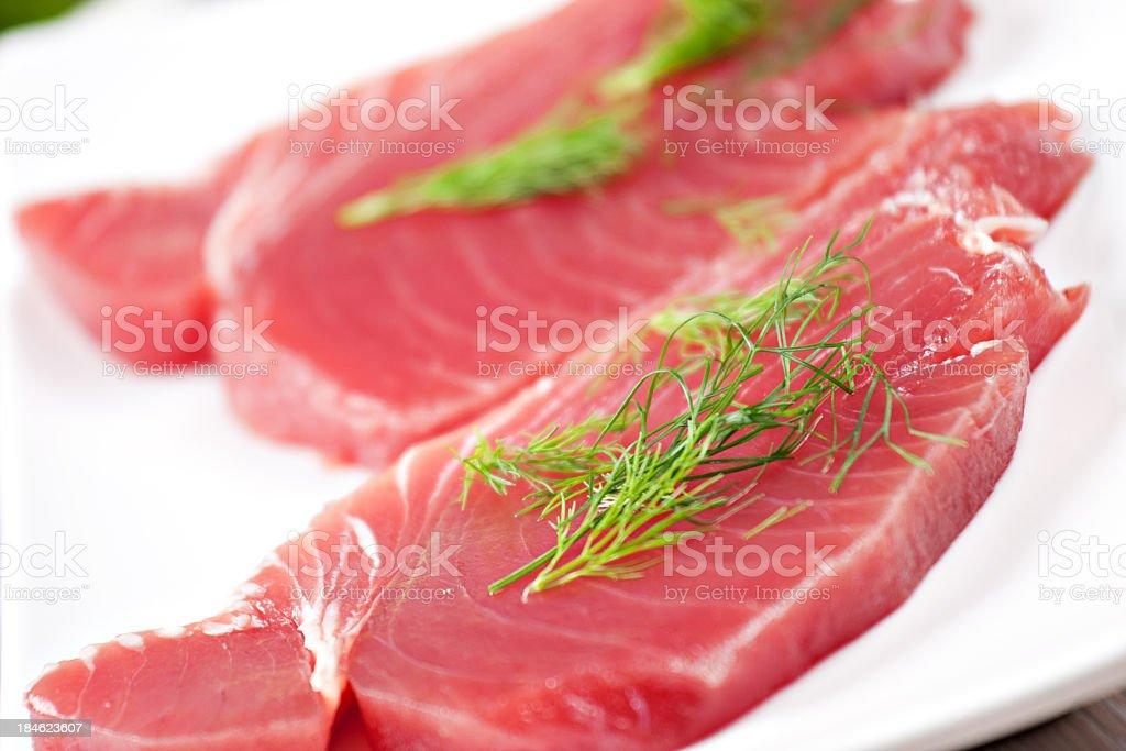 Raw tuna royalty-free stock photo