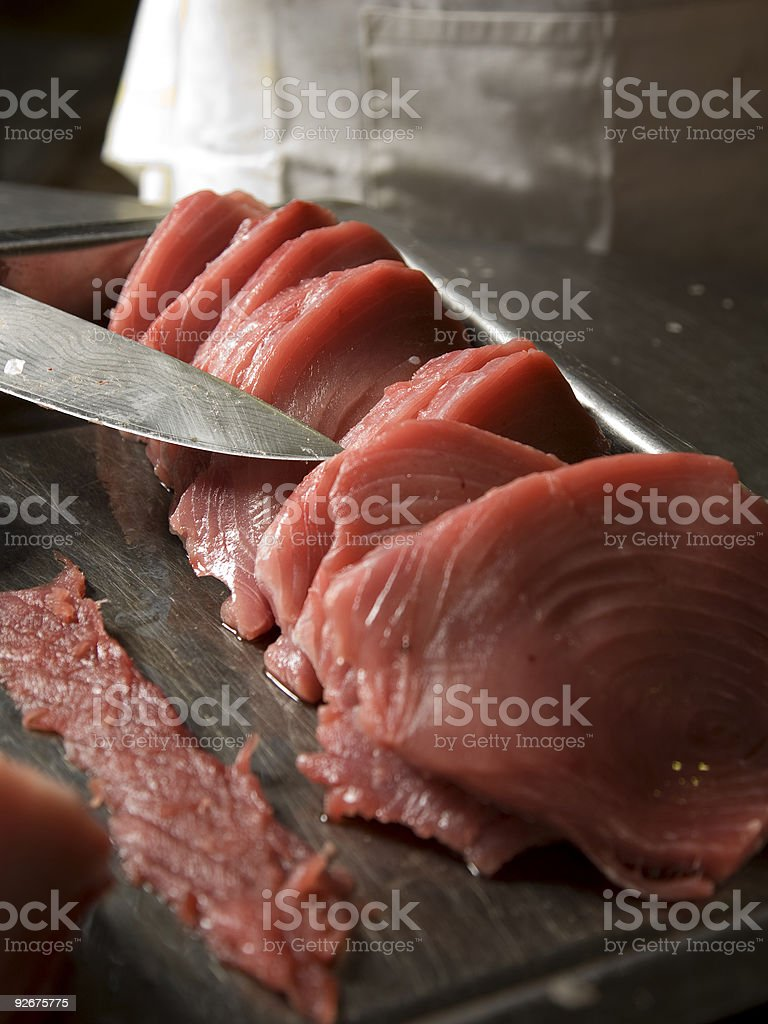 Raw tuna royalty-free stock photo