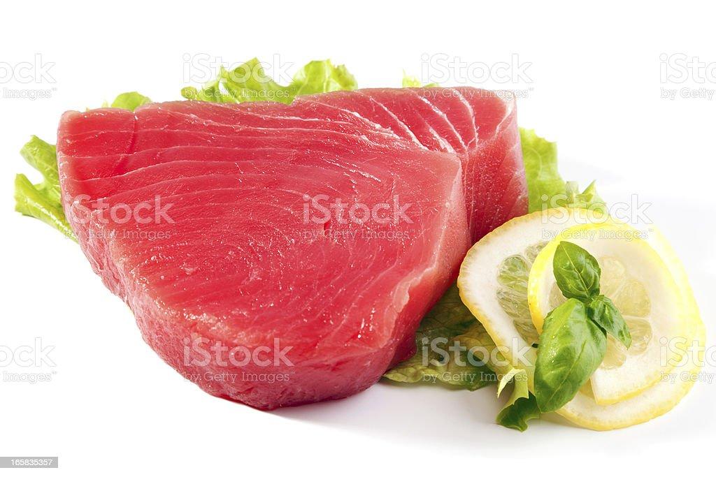 Raw Tuna Steak stock photo