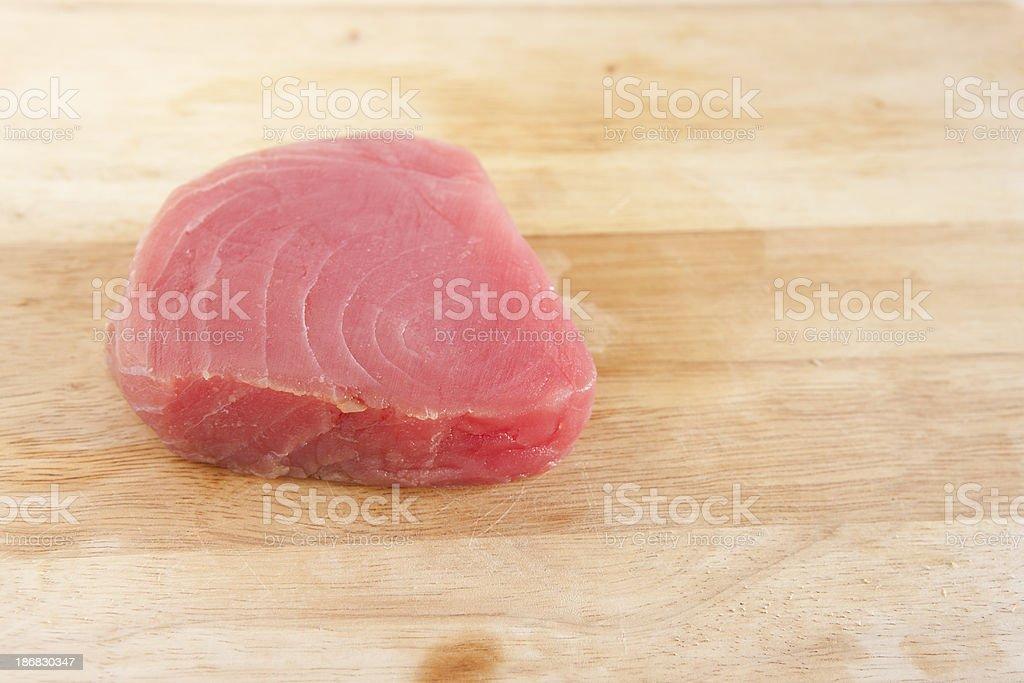 Raw Tuna Steak royalty-free stock photo