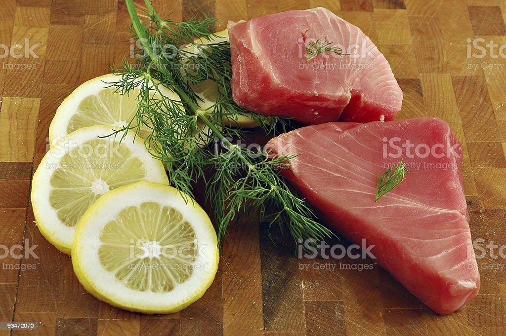 Raw Tuna Steaks stock photo