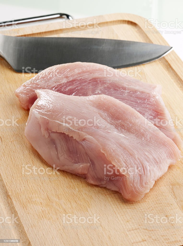 raw turkey breast stock photo