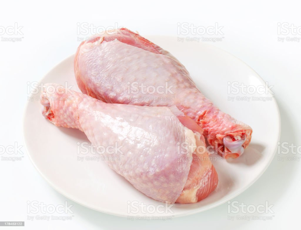 Raw turkey legs royalty-free stock photo