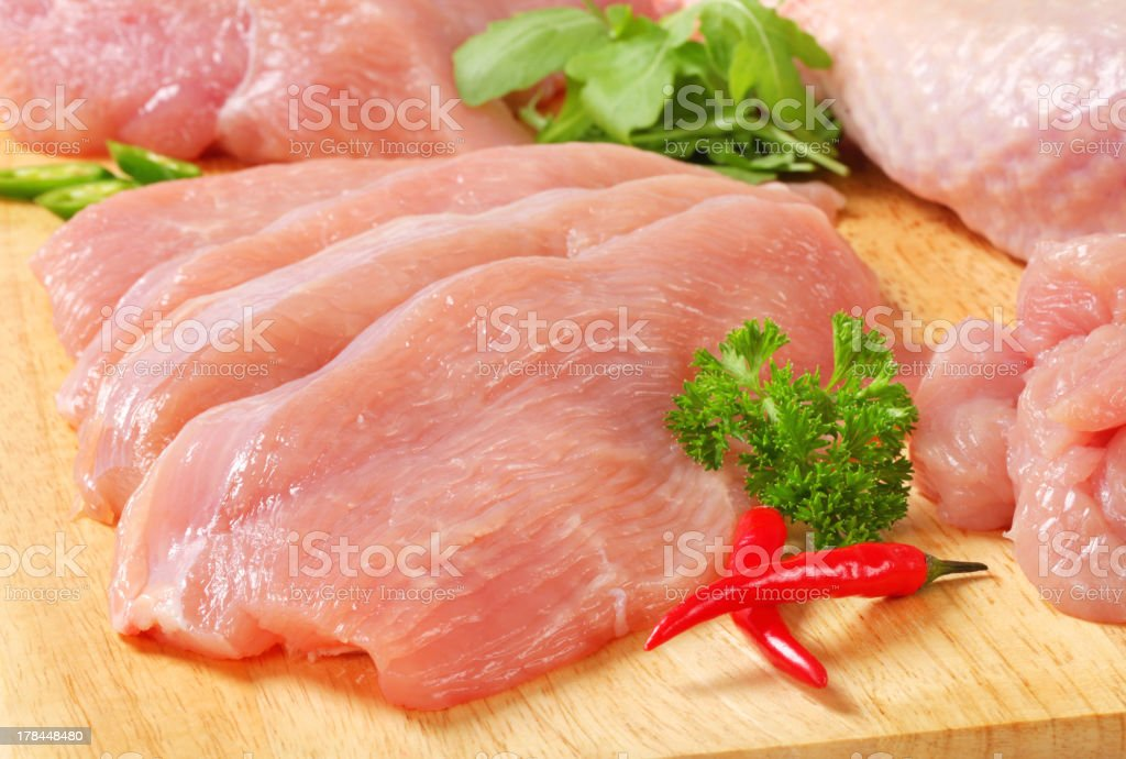Raw turkey meat stock photo