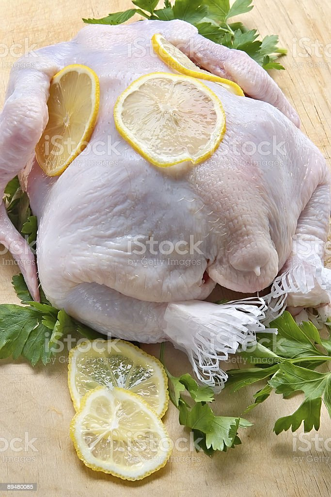 Raw uncooked chicken royalty-free stock photo