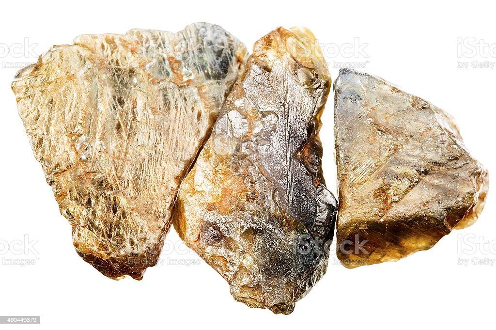 Raw uncut sapphire royalty-free stock photo