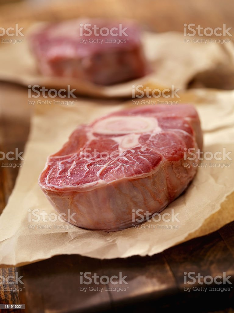 Raw Veal Shanks royalty-free stock photo
