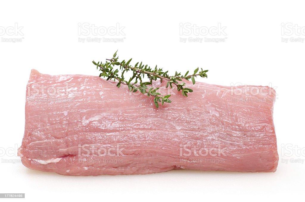 Raw veal tenderloin stock photo