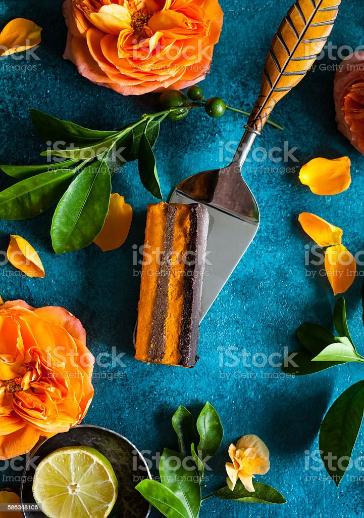 Raw vegan cake stock photo