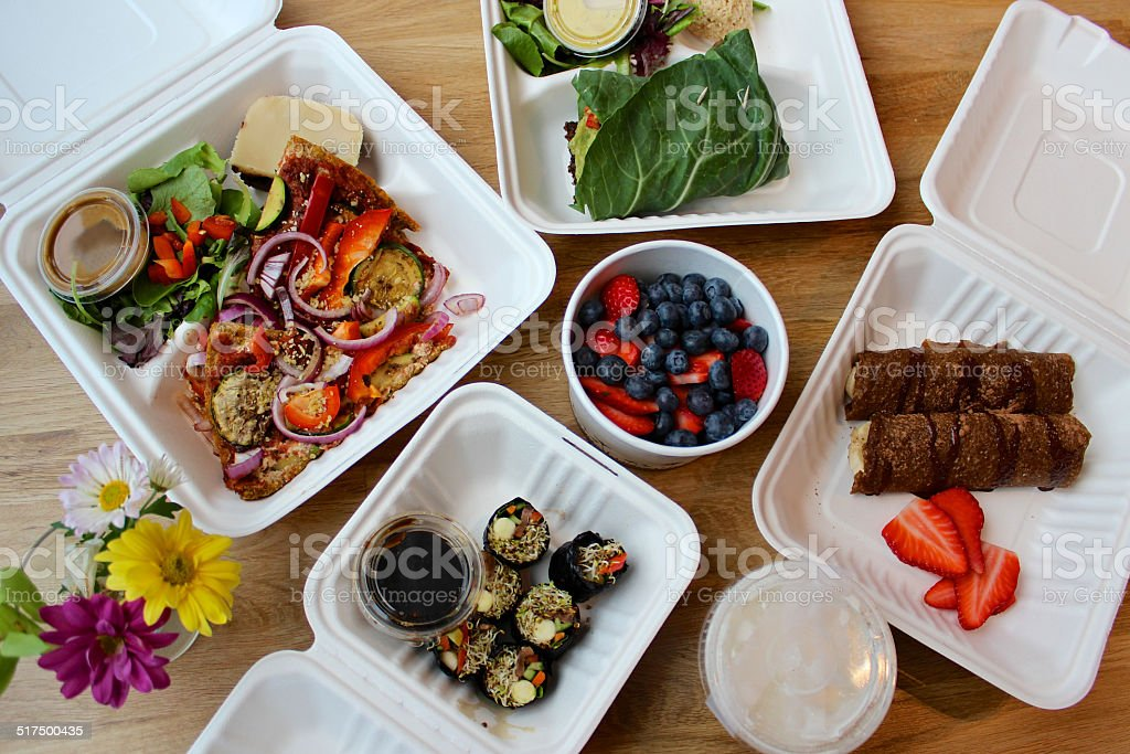 Raw vegan cleanse meals after delivery royalty-free stock photo