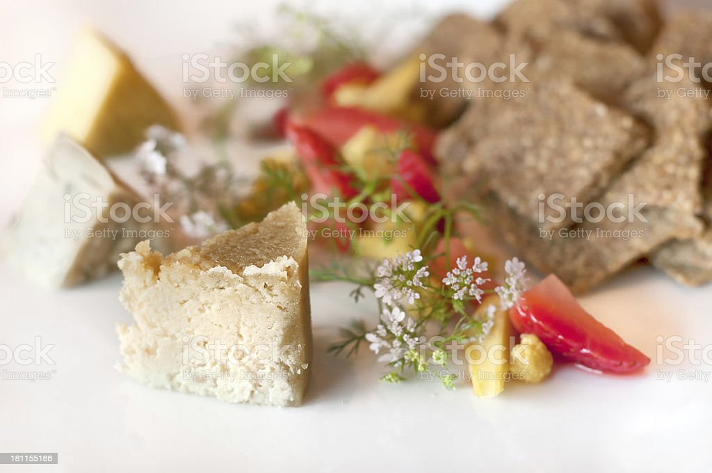 Raw, Vegan Tree Nut Cheese Plate royalty-free stock photo