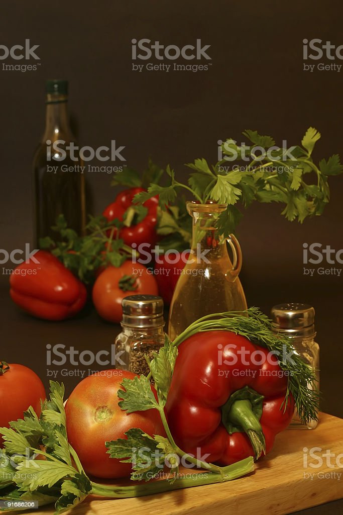 raw vegetables on plate royalty-free stock photo