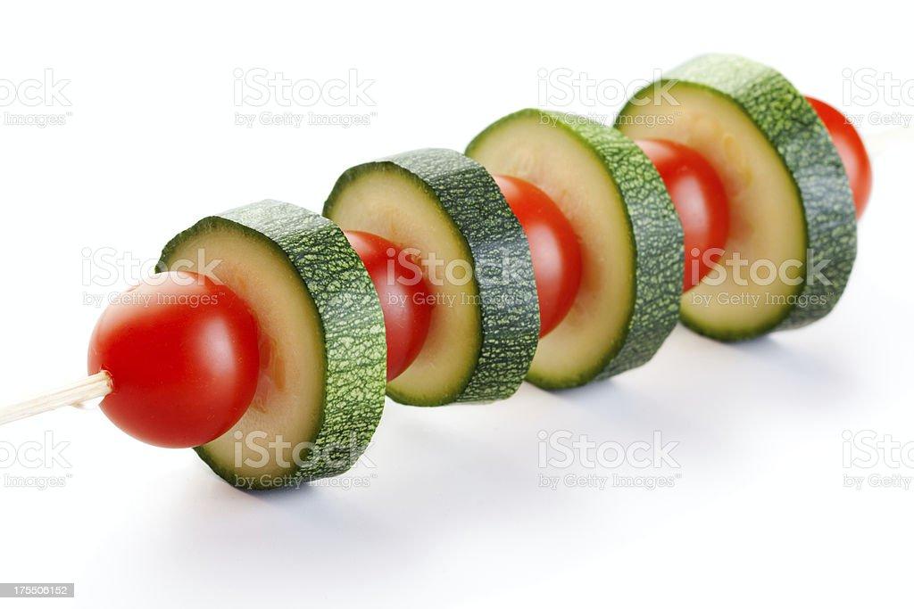 Raw vegeterian kebab stock photo