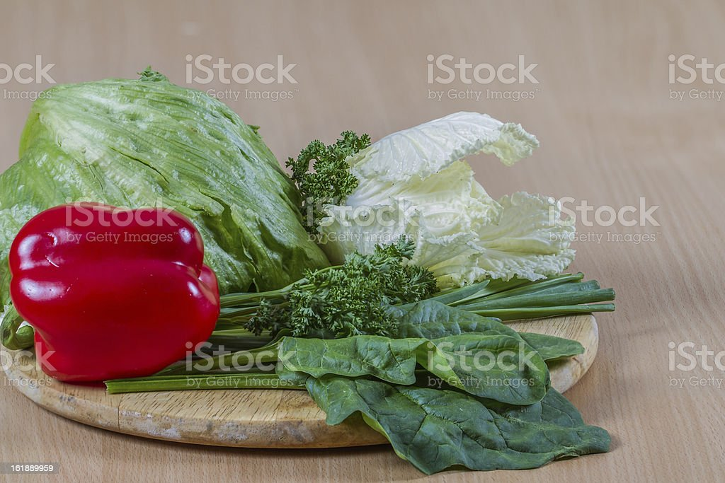 Raw veggies stock photo
