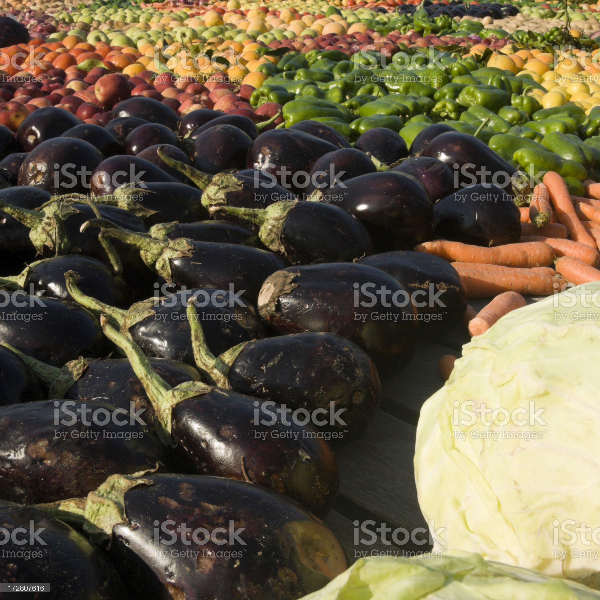 Raw Veggies royalty-free stock photo
