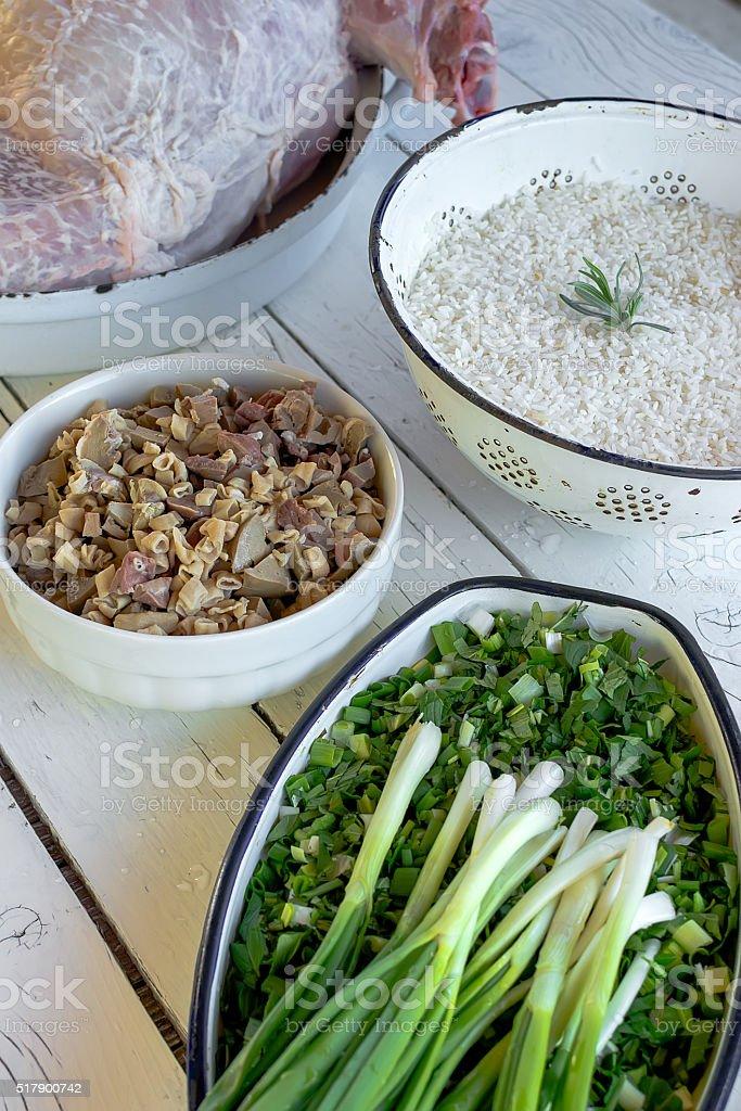 Raw whole lamb stock photo