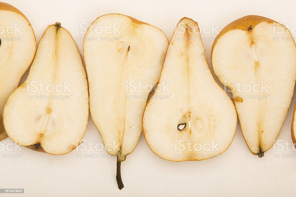Raw whole pears royalty-free stock photo