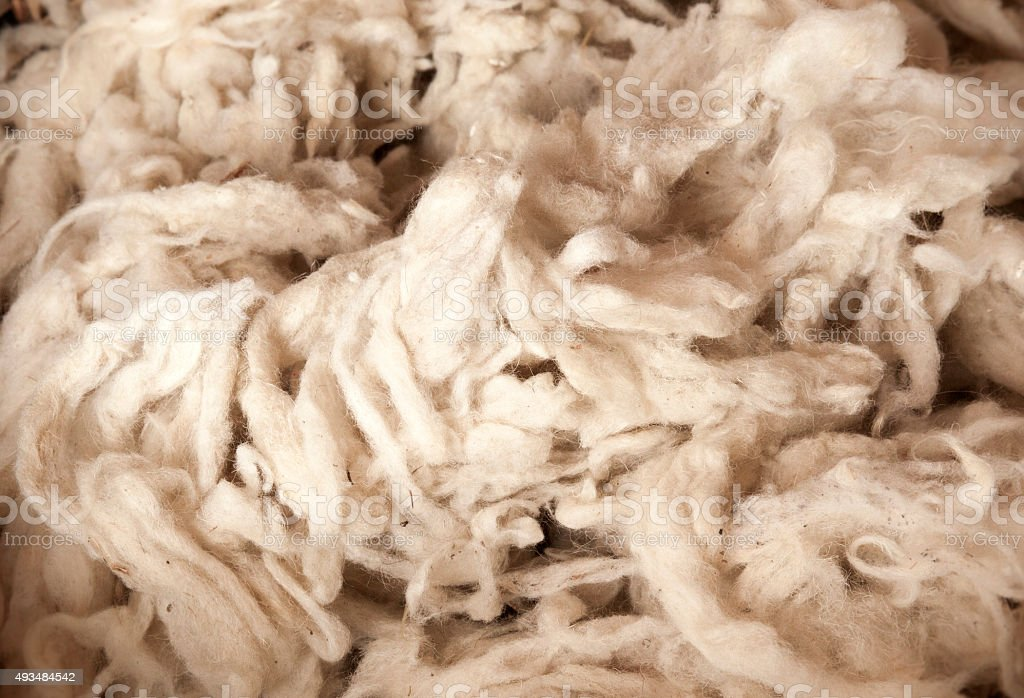 Raw Wool background stock photo