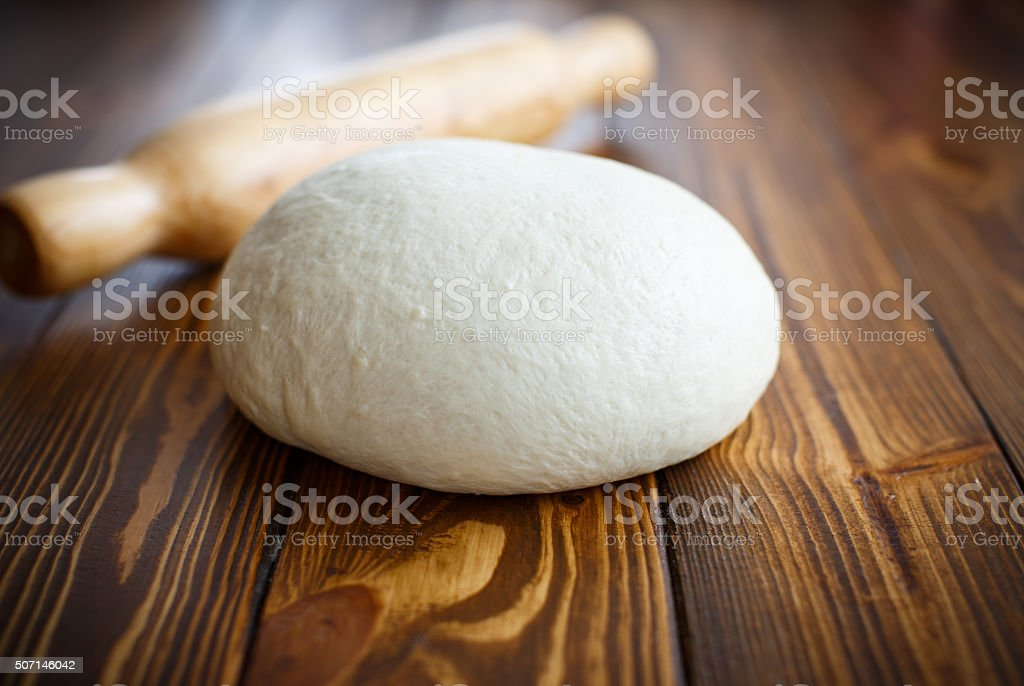 raw yeast dough stock photo