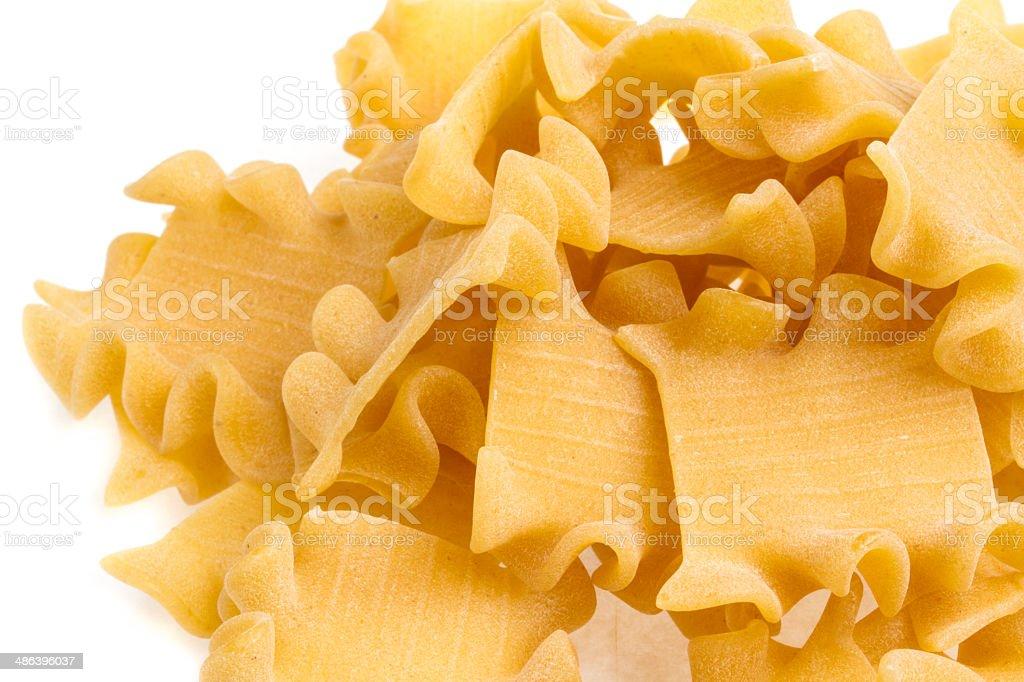 Raw yellow Italian pasta royalty-free stock photo