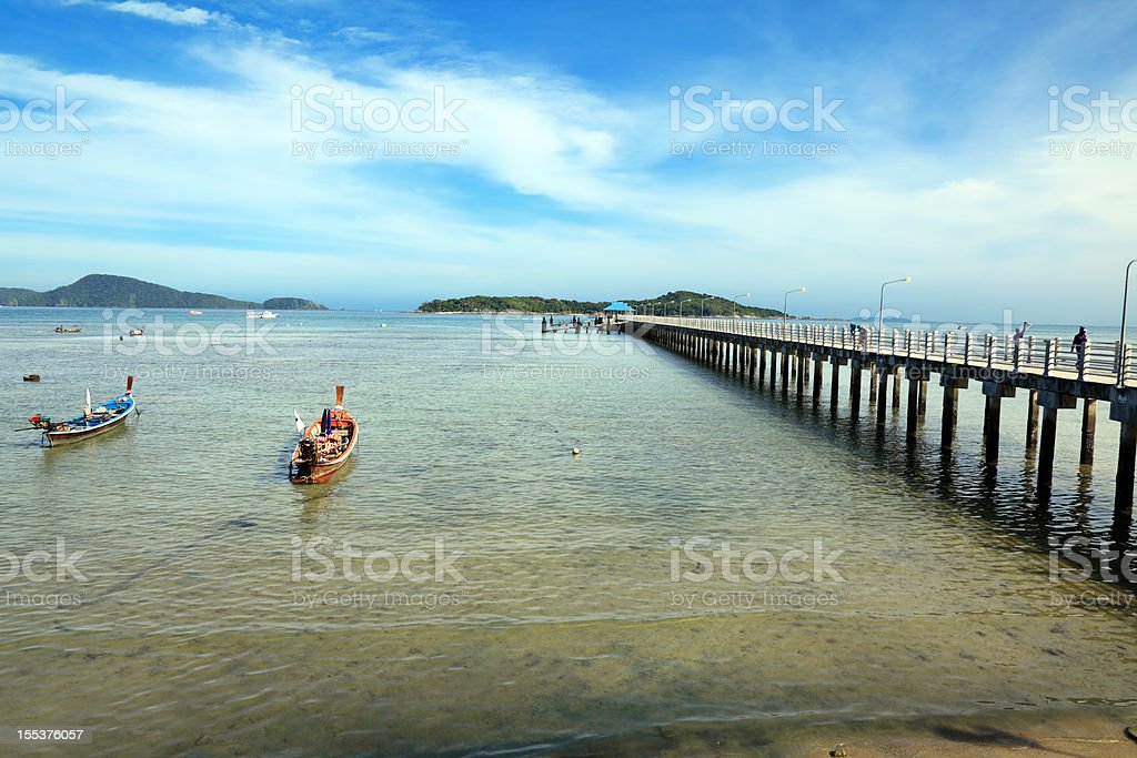 Rawai Landing Pier stock photo