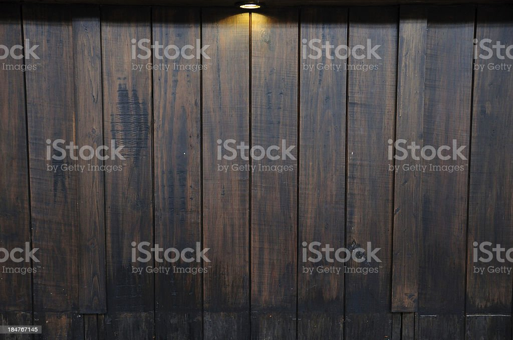 Ray light on antique wooden wall stock photo