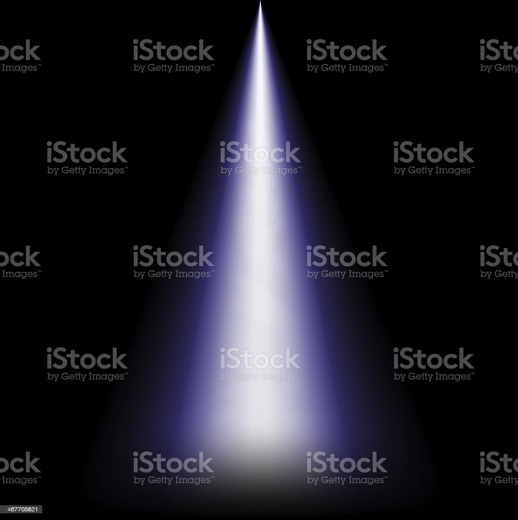 Ray of light from above stock photo