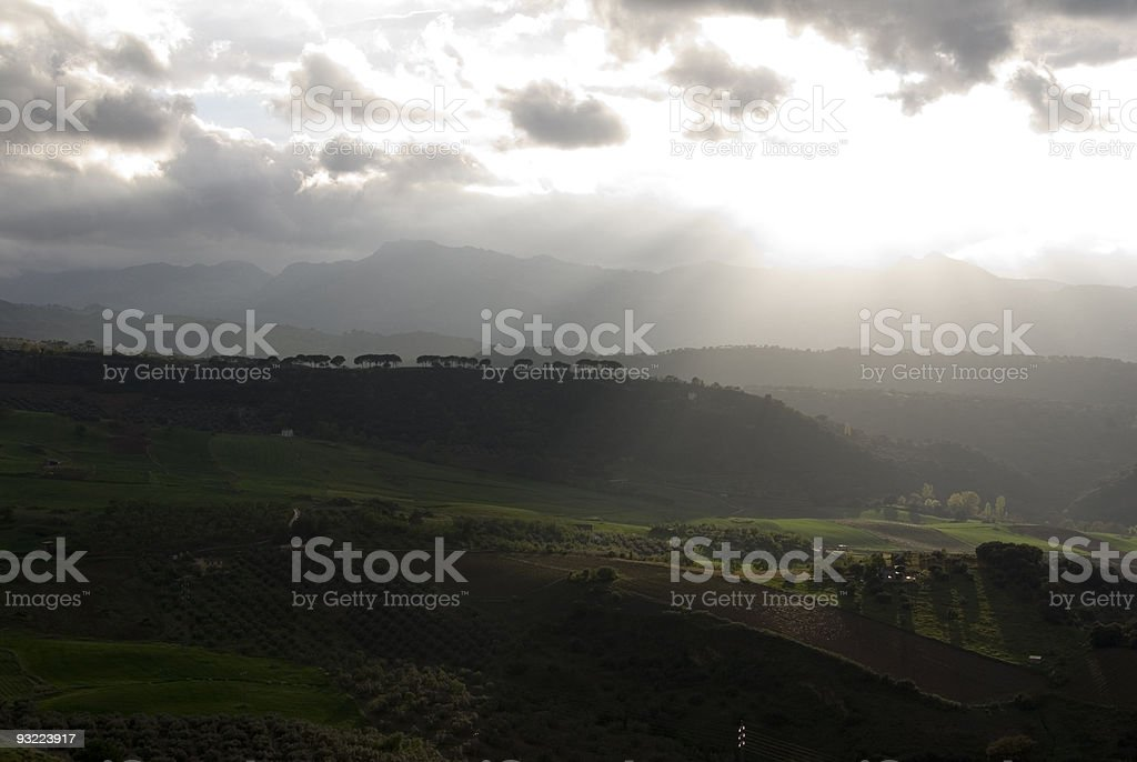 Ray of light. royalty-free stock photo