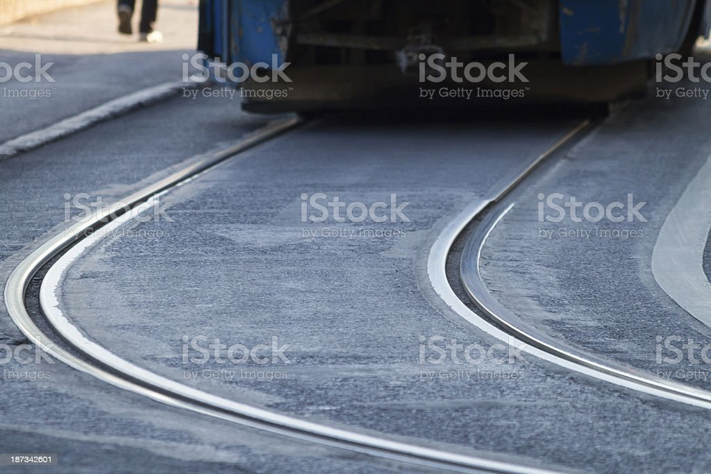 Ray of tram royalty-free stock photo