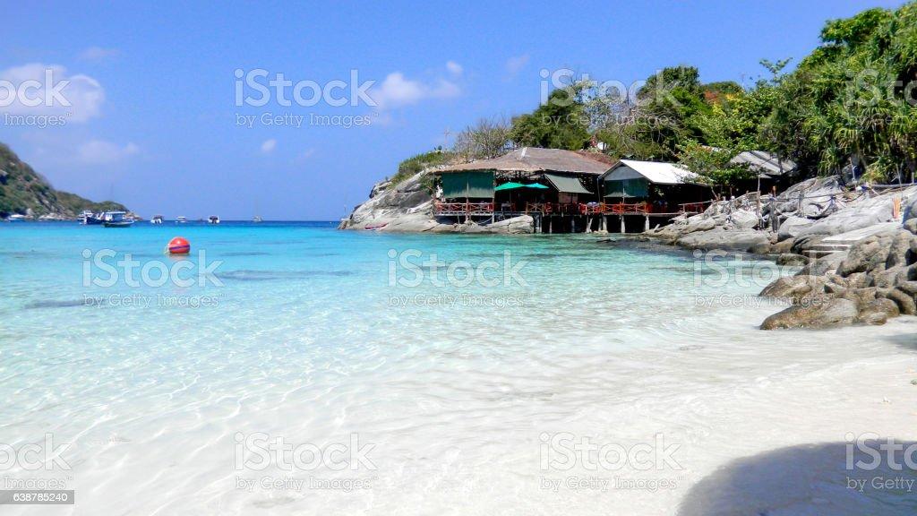 Raya (Racha) beach in Raya Island, hailand, Asia stock photo