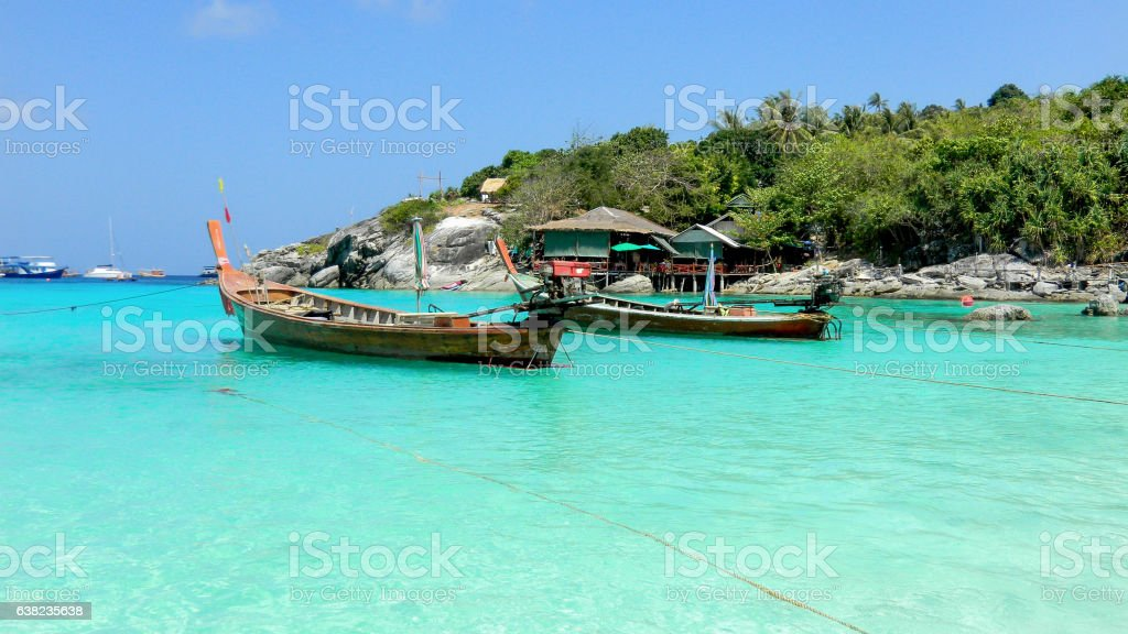 Raya (Racha) beach in Raya Island, Thailand, Asia stock photo