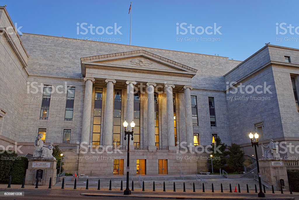 Rayburn House Office Building in Washington DC stock photo