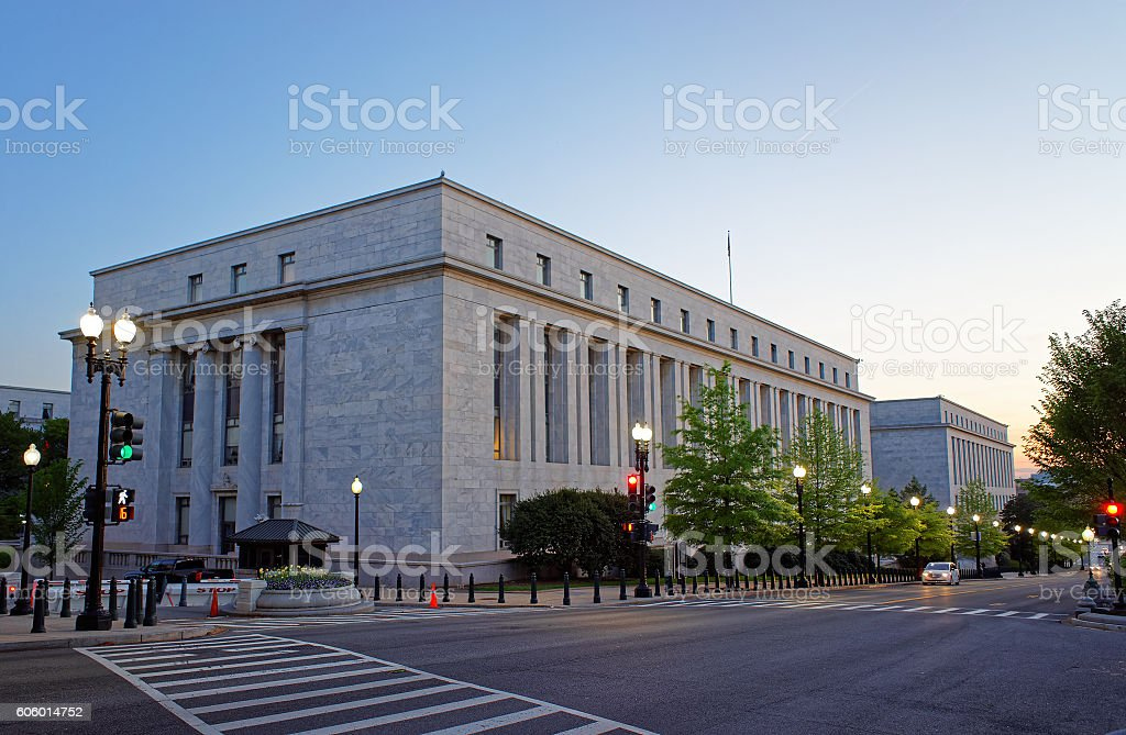 Rayburn House Office Building in Washington stock photo