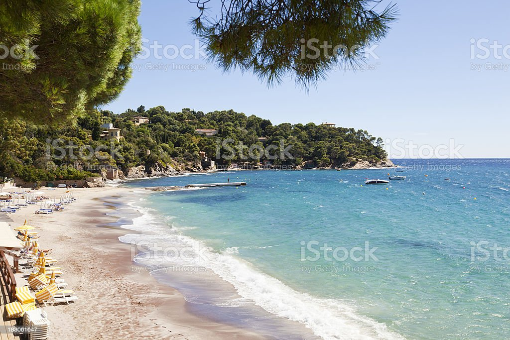 Rayol Beach French Riviera stock photo