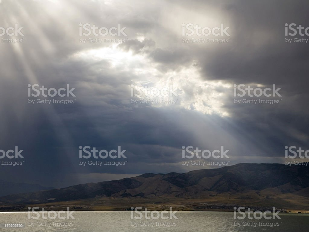 Rays From Heaven royalty-free stock photo