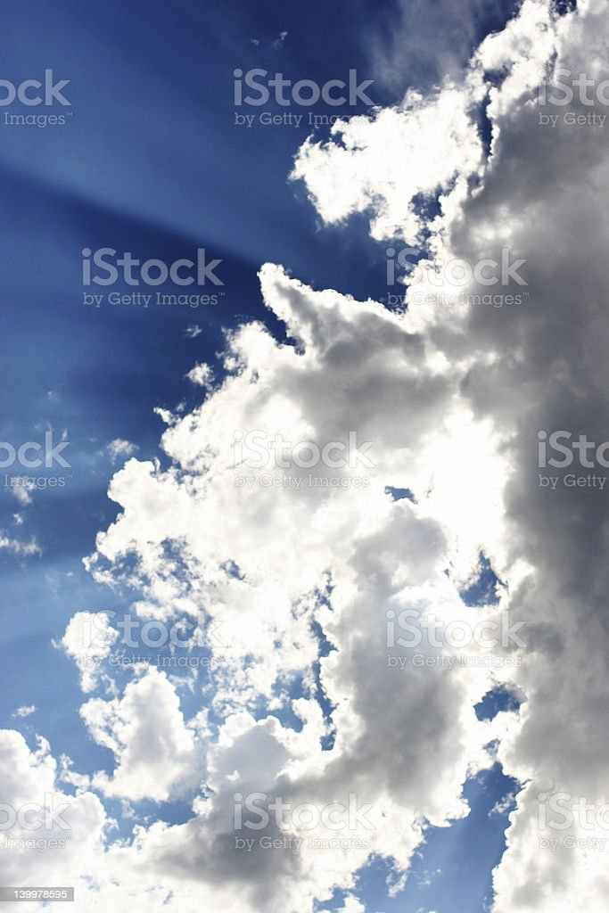 Rays in Cloud royalty-free stock photo