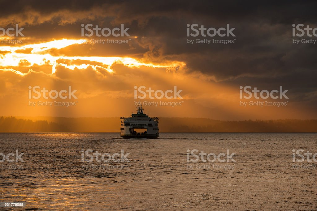 Rays of Gold stock photo