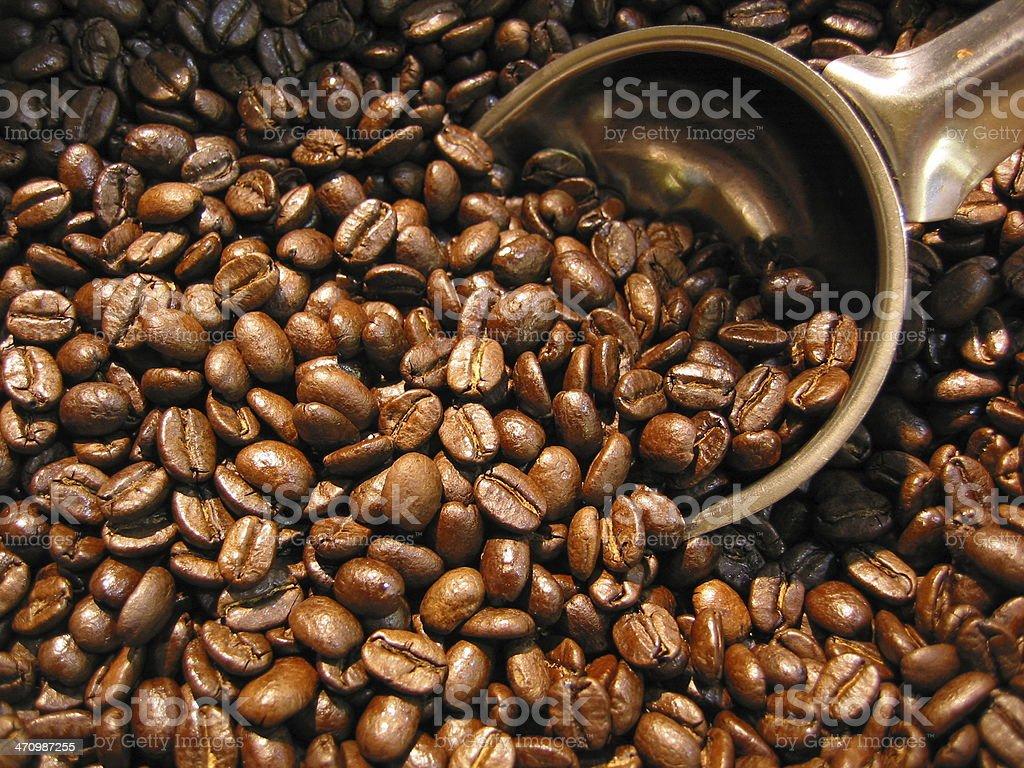 Razchen Coffee Beans with shovel royalty-free stock photo