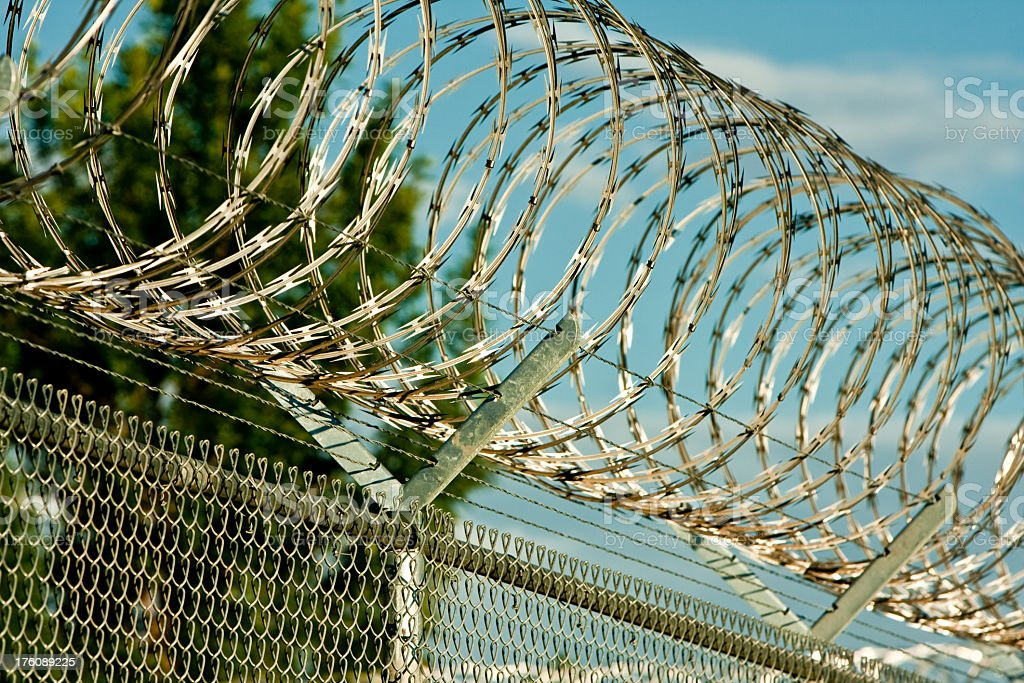 Razor Barbed Wire royalty-free stock photo