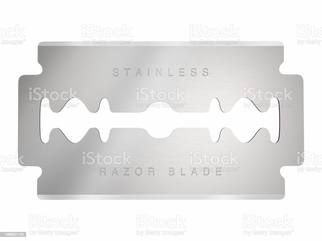 Razor blade royalty-free stock photo